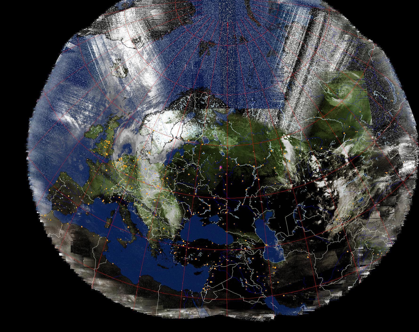 Композитный метеоснимок